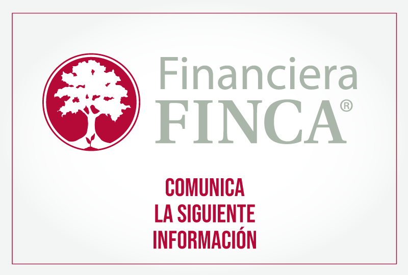 Financiera FINCA comunica